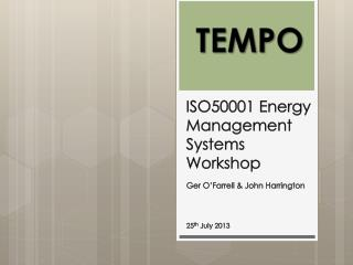 ISO50001 Energy  Management  Systems Workshop