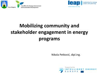 Mobilizing community and stakeholder engagement in energy programs