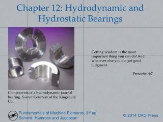 Chapter 12: Hydrodynamic and Hydrostatic Bearings