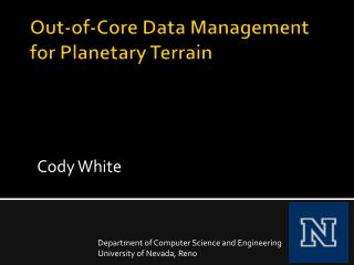 Out-of-Core Data Management for Planetary Terrain