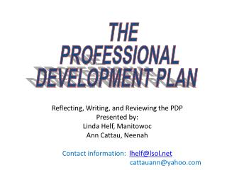 THE PROFESSIONAL DEVELOPMENT PLAN