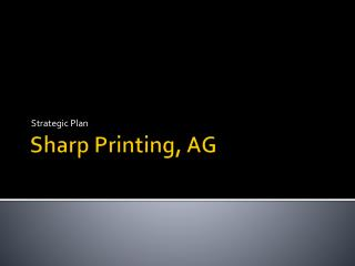 Sharp Printing, AG
