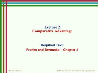 Lecture 2 Comparative Advantage