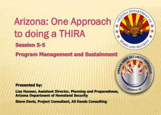 Arizona: One Approach to doing a THIRA