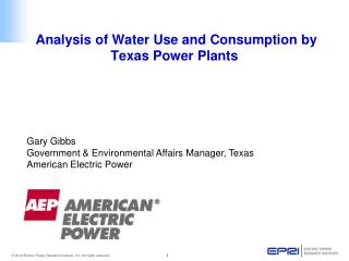 Analysis of Water Use and Consumption by Texas Power Plants