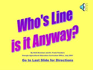 Who's Line is it Anyway?