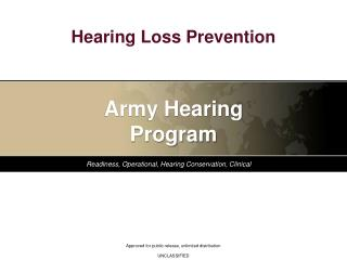 Hearing Loss Prevention