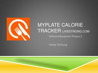 Myplate  Calorie Tracker  livestrong