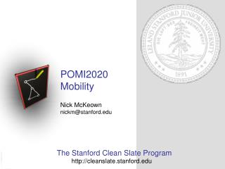 The Stanford Clean Slate Program