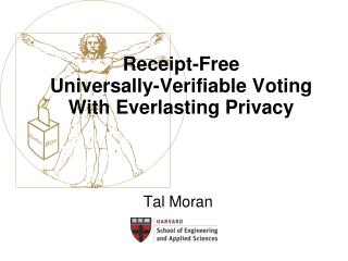 Receipt-Free Universally-Verifiable Voting With Everlasting Privacy