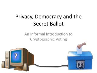Privacy, Democracy and the Secret Ballot