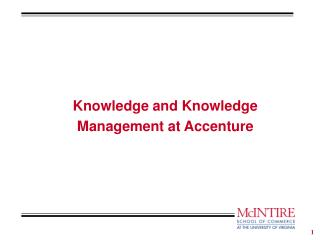 Knowledge and Knowledge Management at Accenture