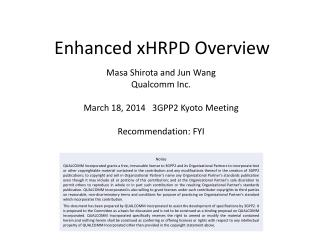 Enhanced xHRPD Overview