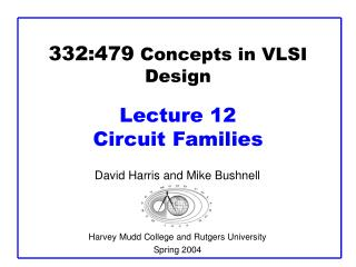 332:479  Concepts in VLSI Design Lecture 12  Circuit Families