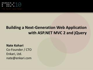 Building a Next-Generation Web Application with ASP.NET MVC 2 and  jQuery