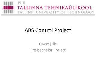 ABS Control Project