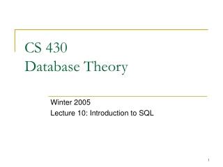 SQL: Data Manipulation