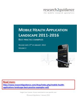 Mobile Health Applications Landscape: Best Practice Examples