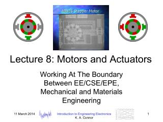 Lecture 8: Motors and Actuators