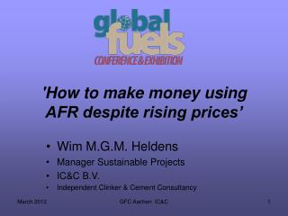 'How to make money using AFR despite rising prices'