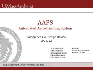 Comprehensive  Design Review 2/16/12