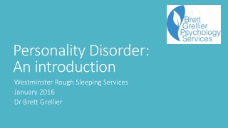 Personality Disorder: An introduction
