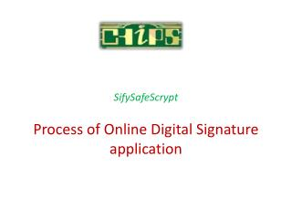 Process of Online Digital Signature application