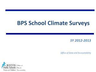 BPS School Climate Surveys