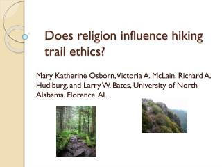 Does religion influence hiking trail ethics?