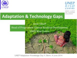 Adaptation & Technology Gaps