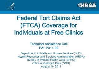 Department of Health and Human Services (HHS) Health Resources and Services Administration (HRSA)