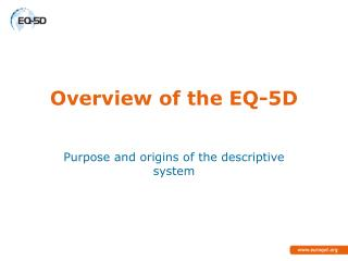 Overview of the EQ-5D