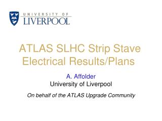 ATLAS SLHC Strip Stave Electrical Results/Plans
