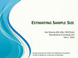 Estimating Sample Size
