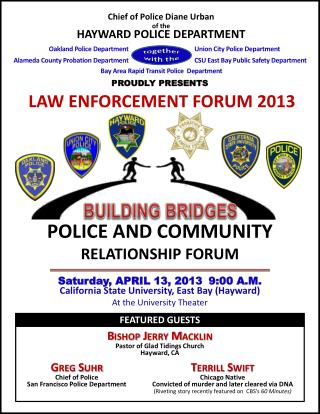 LAW ENFORCEMENT FORUM 2013