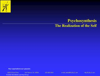 Psychosynthesis The Realization of the Self