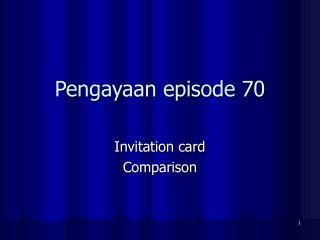 Pengayaan episode 70