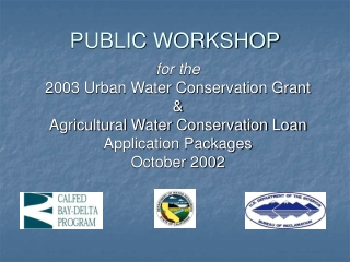 Groundwater Regulatory Program and Conjunctive Use Study
