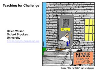 Teaching for Challenge