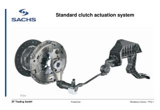 Standard clutch actuation system