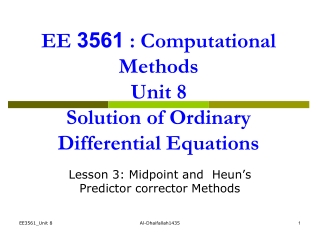 SOLVING DIFFERENTIAL EQUATIONS USING PREDICTOR-CORRECTOR METHODS