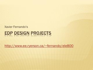 EDP Design Projects