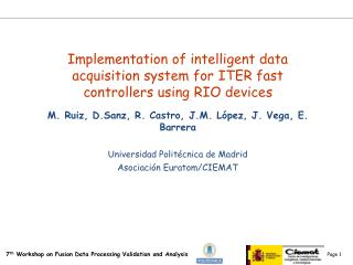 Implementation of intelligent data acquisition system for  ITER fast controllers using RIO devices