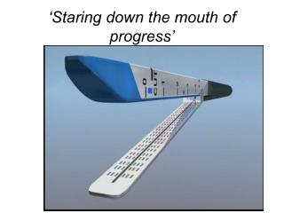 'Staring down the mouth of progress'