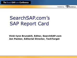SearchSAP's SAP Report Card