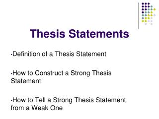 a thesis statement is not quizlet