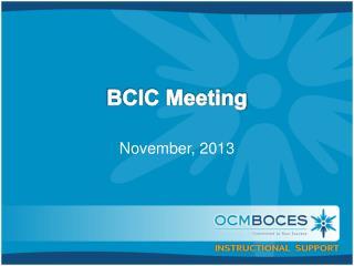 BCIC Meeting