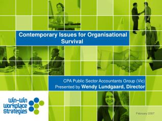 Contemporary Issues for Organisational Survival