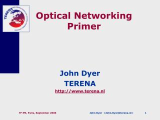 Optical Networking Primer