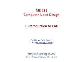 1. Introduction to CAD